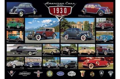 EuroGraphics 6000-0674 - A 30-as évek amerikai autói - 1000 db-os puzzle