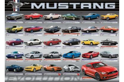 EuroGraphics 6000-0684 - Ford Mustang evolúció - 1000 db-os puzzle