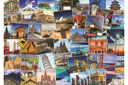 EuroGraphics 6000-0751 - Globetrotter, World - 1000 db-os puzzle