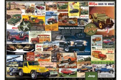 EuroGraphics 6000-0758 - Jeep reklám kollázs - 1000 db-os puzzle