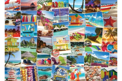 EuroGraphics 6000-0761 - Globetrotter, Beaches - 1000 db-os puzzle