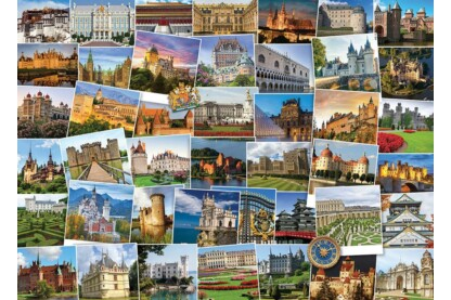 EuroGraphics 6000-0762 - Globetrotter, Castles & Palaces - 1000 db-os puzzle