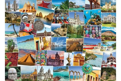 EuroGraphics 6000-0767 - Globetrotter, Mexico - 1000 db-os puzzle