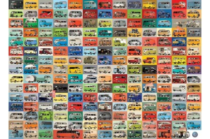 EuroGraphics 6000-0783 - The VW Groovy Bus - 1000 db-os puzzle