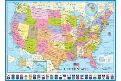 EuroGraphics 6000-0788 - Map of the USA - 1000 db-os puzzle