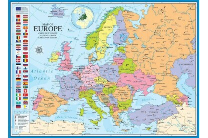 EuroGraphics 6000-0789 - Map of Europe - 1000 db-os puzzle