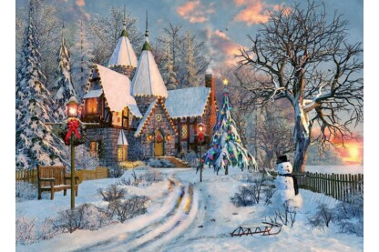EuroGraphics 6000-0790 - Christmas Cottage, Dominic Davison - 1000 db-os puzzle