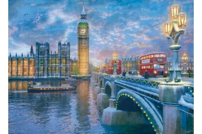 EuroGraphics 6000-0916 - Christmas Eve in London, Dominic Davison - 1000 db-os puzzle
