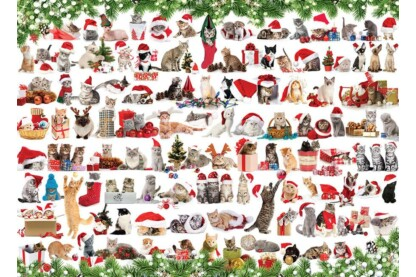 EuroGraphics 6000-0940 - Holiday Cats - 1000 db-os puzzle