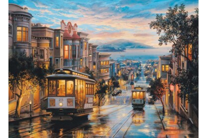 EuroGraphics 6000-0957 - Cable Car Heaven, San Francisco, Eugene Lushpin - 1000 db-os puzzle
