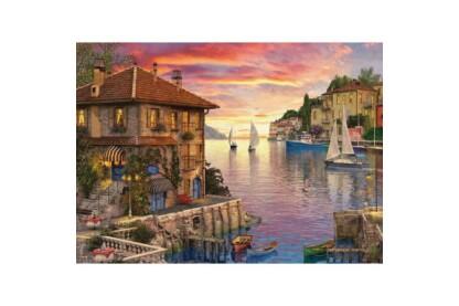 EuroGraphics 6000-0962 - Mediterranean Harbor, Dominic Davison - 1000 db-os puzzle