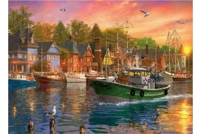 EuroGraphics 6000-0969 - Harbor Sunset, Dominic Davison - 1000 db-os puzzle