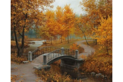 EuroGraphics 6000-0979 - Autumn in an Old Park, Eugene Lushpin - 1000 db-os puzzle