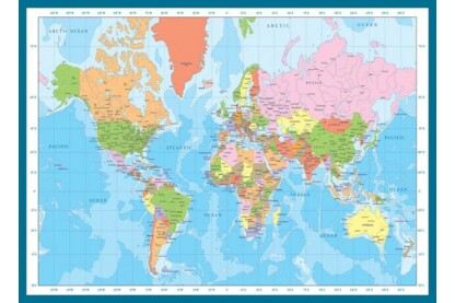 EuroGraphics 6000-1271 - Map of the World - 1000 db-os puzzle