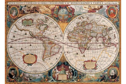 EuroGraphics 6000-1997 - Antique World Map - 1000 db-os puzzle
