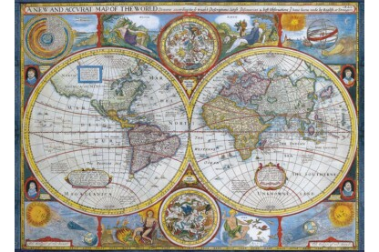 EuroGraphics 6000-2006 - Antique World Map - 1000 db-os puzzle