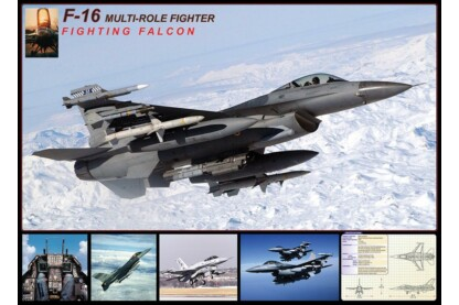 EuroGraphics 6000-4956 - F-16 Fighting Falcon - 1000 db-os puzzle