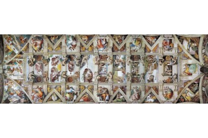 EuroGraphics 6010-0960 - Panoráma puzzle - The Sisitine Chapel Ceiling - 1000 db-os puzzle