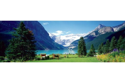 EuroGraphics 6010-1456 - Panoráma puzzle - Lake Louise  - 1000 db-os puzzle