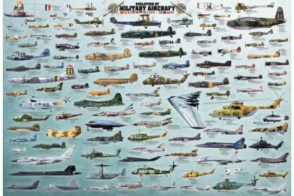 EuroGraphics 8220-0578 - Evolution of Military Aircraft - 2000 db-os puzzle