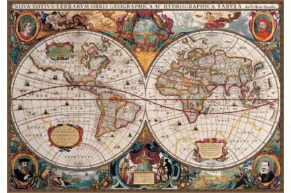 EuroGraphics 8220-1997 - Antique World Map - 2000 db-os puzzle