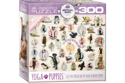 EuroGraphics 8300-0992 - Yoga Puppies - 300 db-os XL puzzle