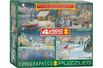 EuroGraphics 8904-0982 - Holiday Deluxe Puzzle Set, Sam Timm's Art - 4 x 500 db-os puzzle