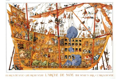 Heye 25475 - Triangular puzzle - Noé bárkája, Loup - 2000 db-os puzzle