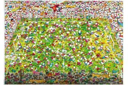 Heye 29072 - Triangular puzzle - Crazy World Cup, Mordillo - 4000 db-os puzzle