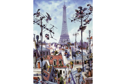 Heye 29358 - Eiffel-torony, Loup - 1000 db-os puzzle