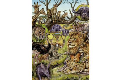 Heye 29661 - Flora and Fauna, Szavanna - 1000 db-os puzzle