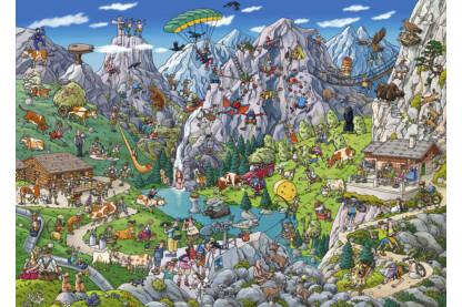 Heye 29680 - Alpesi móka, Tanck -  1000 db-os puzzle