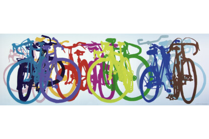 Heye 29737 - Panoráma puzzle - Bike Art - Colourful Row - 1000 db-os puzzle