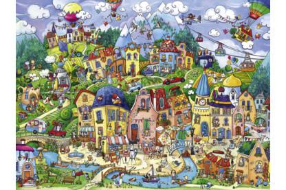 Heye 29744 - Triangular puzzle - Happytown, Berman - 1500 db-os puzzle