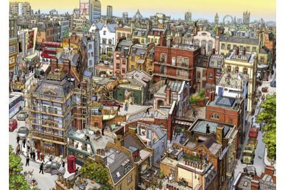 Heye 29753 - Triangular puzzle - Sherlock és társa - 2000 db-os puzzle