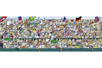 Heye 29757 - Panoráma puzzle - Sportrajongók, Blachon - 1000 db-os puzzle