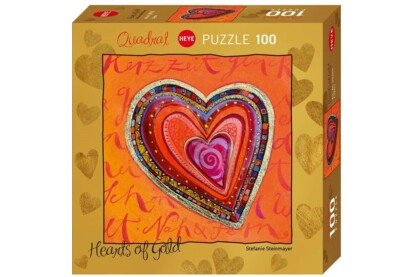 Heye 29762 - Quadrat puzzle - Hearts of Gold - Layers - 100 db-os puzzle