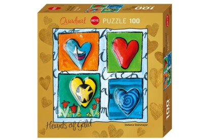 Heye 29763 - Quadrat puzzle - Hearts of Gold - 4 Times - 100 db-os puzzle