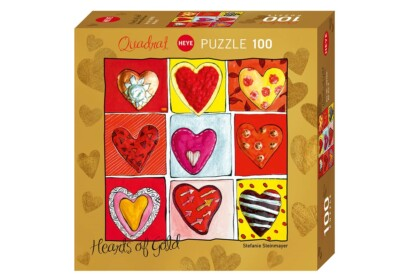 Heye 29765 - Quadrat puzzle - Hearts of Gold - All the 9 - 100 db-os puzzle