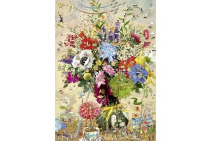 Heye 29787 - Triangular puzzle - Flower's Life, Degano - 1000 db-os puzzle