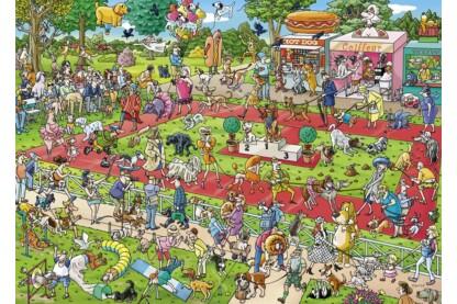Heye 29788 - Triangular puzzle - Dog Show, Tanck - 1000 db-os puzzle