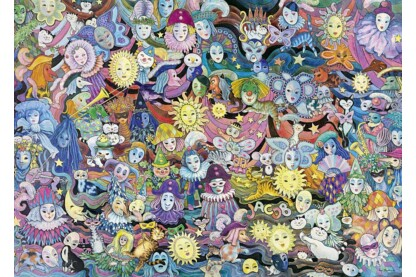 Heye 29789 - Triangular puzzle - Masquerade, Hartmann - 1000 db-os puzzle