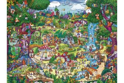 Heye 29792 - Triangular puzzle - Wonderwoods, Berman - 1500 db-os puzzle