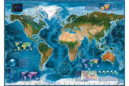 Heye 29797 - Satellite Map, Zigic - 2000 db-os puzzle