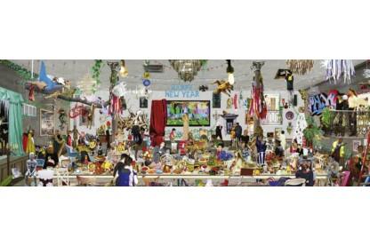 Heye 29823 - Panoráma puzzle - New Year's Eve, Sanda Anderlon - 1000 db-os puzzle