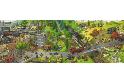 Heye 29835 - Panoráma puzzle - Cartoon Classics - Busy Day, Loup - 1000 db-os puzzle