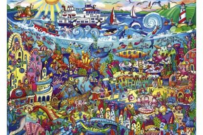 Heye 29839 - Triangular puzzle - Magic Sea, Rita Bermans - 1000 db-os puzzle