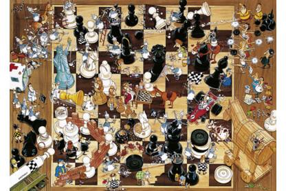 Heye 8793 - Triangular puzzle - Fekete vagy fehér, Degano - 1000 db-os puzzle