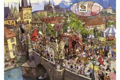 Heye 29926 - Triangular puzzle - Street Parade, Doro Göbel - 2000 db-os puzzle