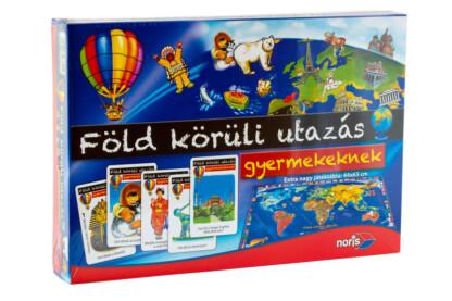 Noris 6013599 - Föld körüli utazás gyermekeknek oktató társasjáték
